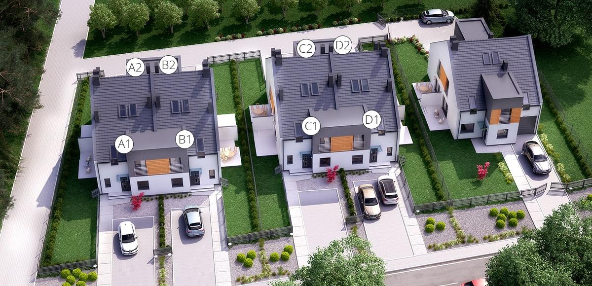 Domy w zabudowie czterorodzinnej - Zielona Góra