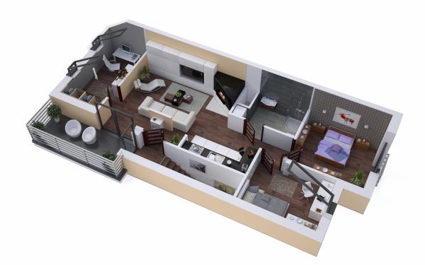 Apartamenty w zabudowie szeregowej