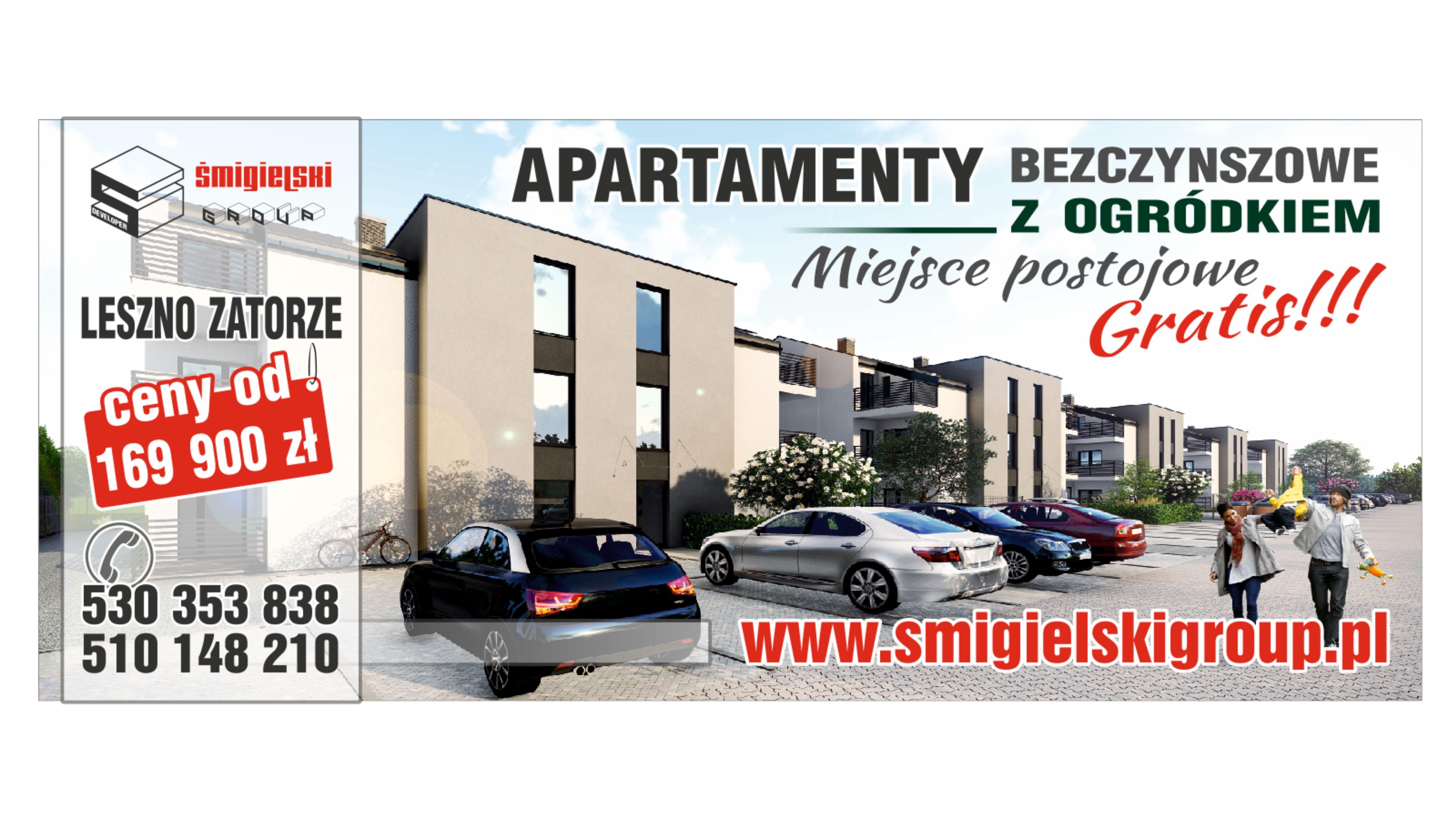 Apartamenty bezczynszowe z ogródkiem- miejsce postojowe gratis !!!