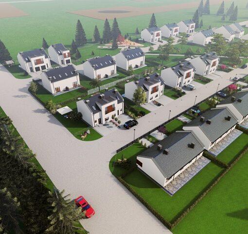 Domy w zabudowie bliźniaczej Osiedle Cyprysowe