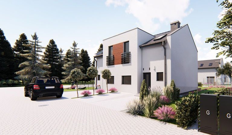 Domy w zabudowie bliźniaczej Dąbcze, Osiedle Cyprysowe